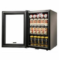 NEWAIR Locking Beverage Refrigerator, 90-Can, Black - SHIPS