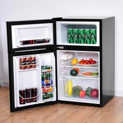 Mini Fridge 3.2 cu. ft. Stainless Steel Refrigerator Small F