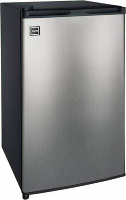Sleek Platinum Stainless Steel 3.2 Cu Ft Single Door Mini Fr