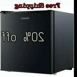 Mini Fridge Refrigerator Black  Kitchen Bedroom Small Cooler