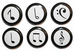 Mini 'Musical Notes' Fridge Magnets - Gift & Kitchen - High