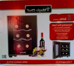 Mini Thermoelectric 6-Bottle Wine Cooler Fridge Bar Home Off