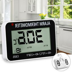 Mini Wall Mounted LCD Display Digital Household Thermometer