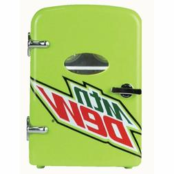 "Mountain Dew 6 Can 10"" Mini Refrigerator Fridge 120V and 12V"