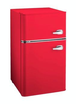 New 3.1 Cu Ft Mini Fridge Red Office Dorm 2 Door Compact Ref