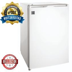 NEW 4.5 Cuft Mini Fridge White w/ Top Freezer Freestanding M