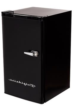 New Black 3.2 Cu. Ft. Retro Mini Fridge Compact Refrigerator