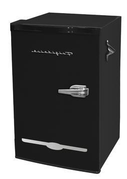 New Black Retro 3.2 Cu. Ft. Mini Fridge Compact Refrigerator