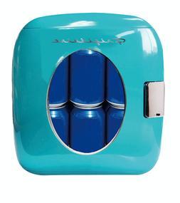 New Blue 12 Can Retro Mini Fridge Portable Drink Cooler Offi