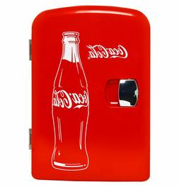 New Coca Cola 6 Can Mini Cooler Fridge 12V Car 120V AC Wall