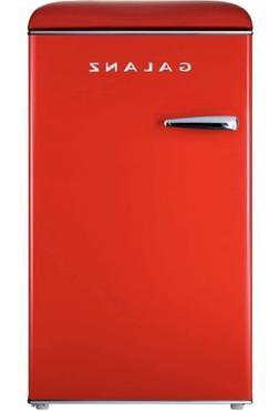 NEW Vintage Galanz GLR35RDER Retro Refrigerator, 3.5 Cu Ft,