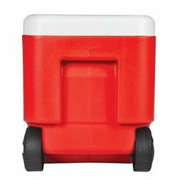 NEW Igloo Wheelie Cool 38-Quart Capacity Cooler - Red