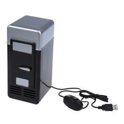 PC USB Mini Refrigerator Fridge Beverage Drink Can Cooler Wa