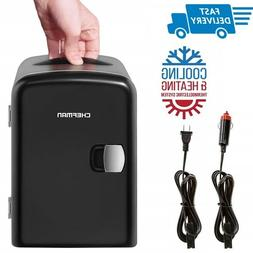 Chefman Mini Portable Compact Personal Fridge Cools & Heats,
