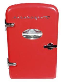 retro mini fridge 6 can portable compact