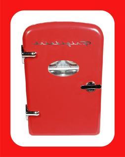 Portable Retro Design 6-Can Mini Fridge Refrigerator Compact