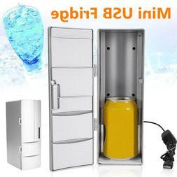 Portable USB Mini Fridge Refrigerator Beverage Drink Can Coo