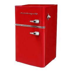 Frigidaire Red Retro 3.2 cu ft 2 Door Refrigerator Freezer D