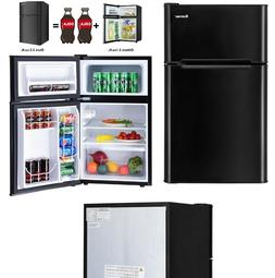 Refrigerator Small Compact Black Refrigerators With Freezer