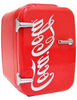 Cooluli Retro Coca-Cola Portable 4 Liter Mini Fridge Cooler
