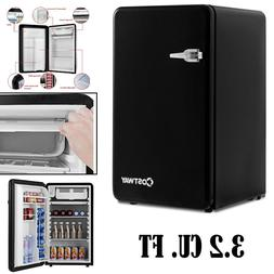 Retro Refrigerator With Freezer Small Refrigerators Compact