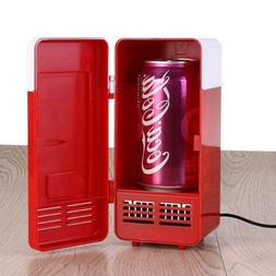 Small Mini USB Cans Fridge - Beverage Cooler and Refrigerato