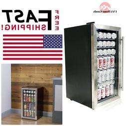 """Stainless Steel Can Cooler 17"""" 12 oz 27-Bottle Storage Mini"""