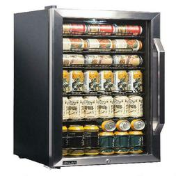 Stainless Steel Doors & Double-Paned Glass 126 Cans Beverage