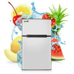 Two Door Stainless Steel Compact Refrigerator 3.2cu ft.Unit