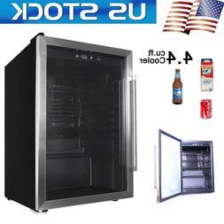 US Beverage Cooler 4.4 cu.ft With Glass Door Mini Refrigerat