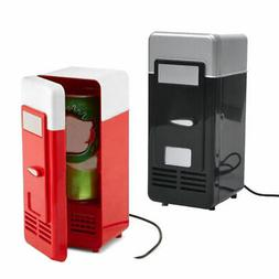 USB Powered Mini Fridge Drink Cans Cooling Fridge Cooler and