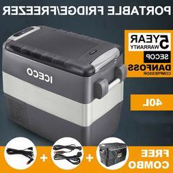 ICECO VL60 Portable Refrigerator, Dual Zone Freezer Fridge,