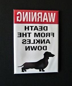 WARNING Ankle Bite - Mini Metal Sign - Refrigerator Fridge M