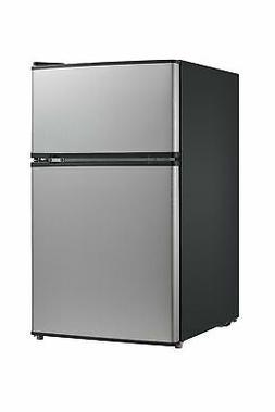 Midea WHD-113FSS1 Double Door Mini Fridge with Freezer for B