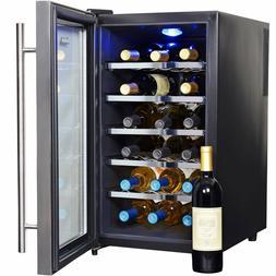Wine Cooler 18 Bottle AW-181E Chiller Fridge Digital Thermoe